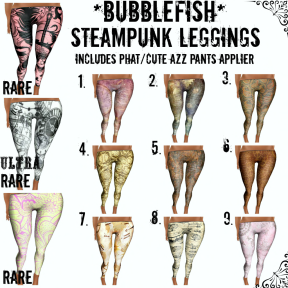 _Bubblefish_ Steampunk Legging Poster