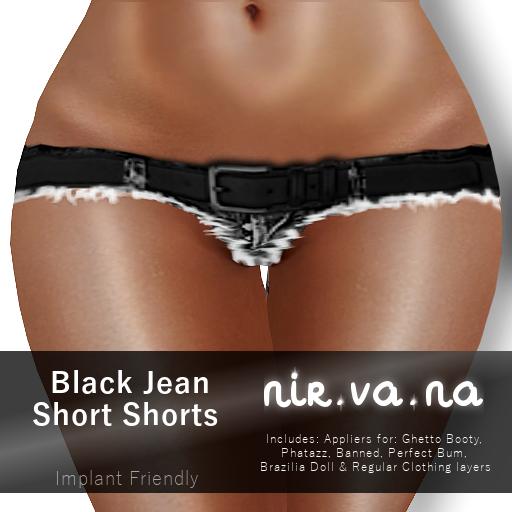 NirvanaBlackJeanShortShortsPoster