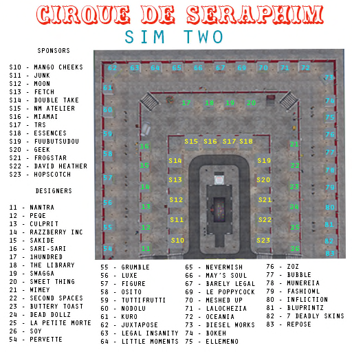 CIRQUE DE SERAPHIM - SIM TWO MAP